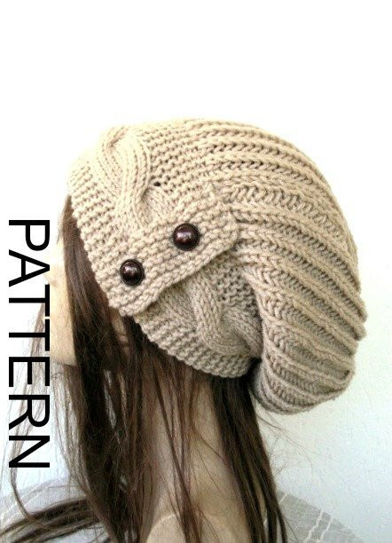 knitting pattern hat instant womens hat pattern by