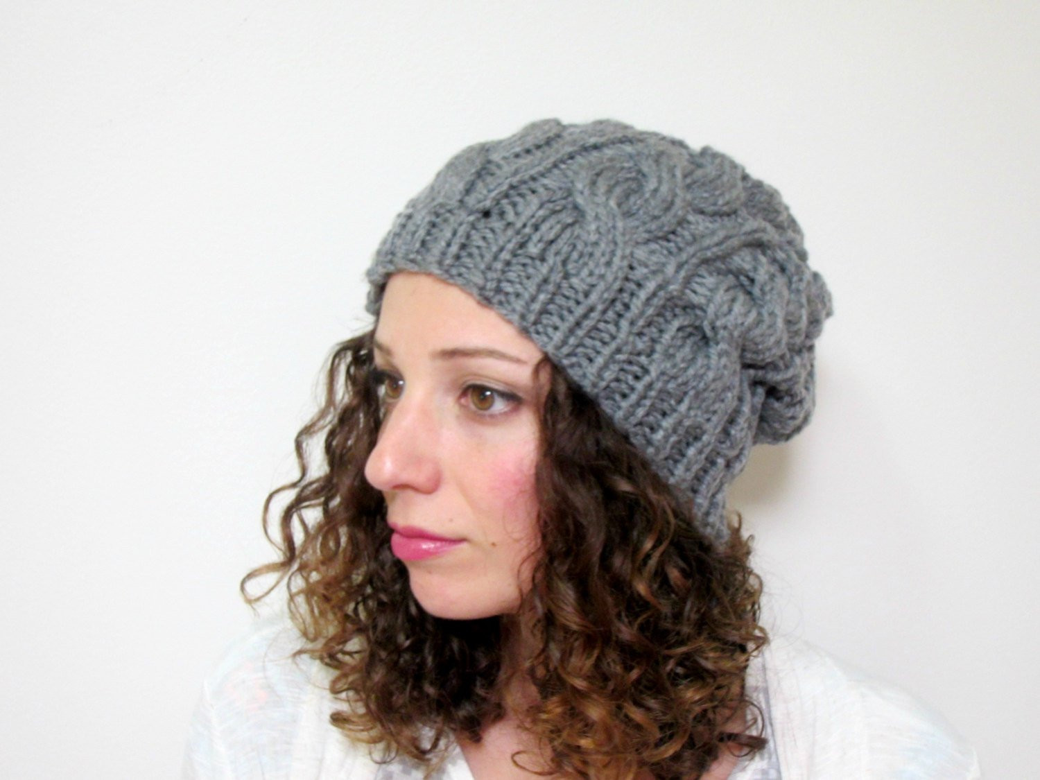 Womens Knit Hats Luxury Cable Knit Hat Womens Slouchy Beanie Gray Knitted Hats Etsy Of Innovative 50 Images Womens Knit Hats