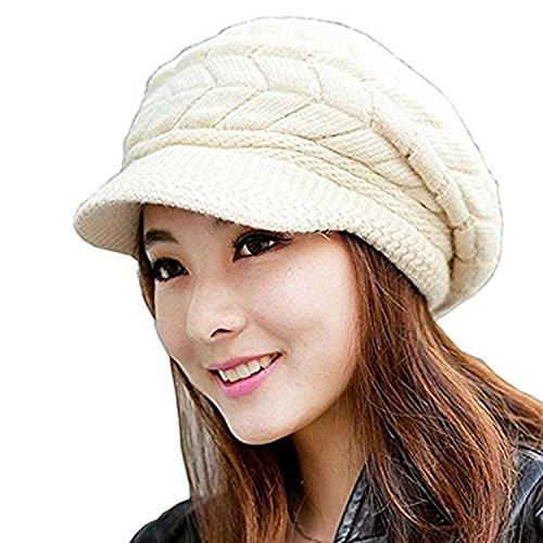 Womens Knit Hats Luxury Women S Cable Knit Visor Hat with Flower Accent White Of Innovative 50 Images Womens Knit Hats