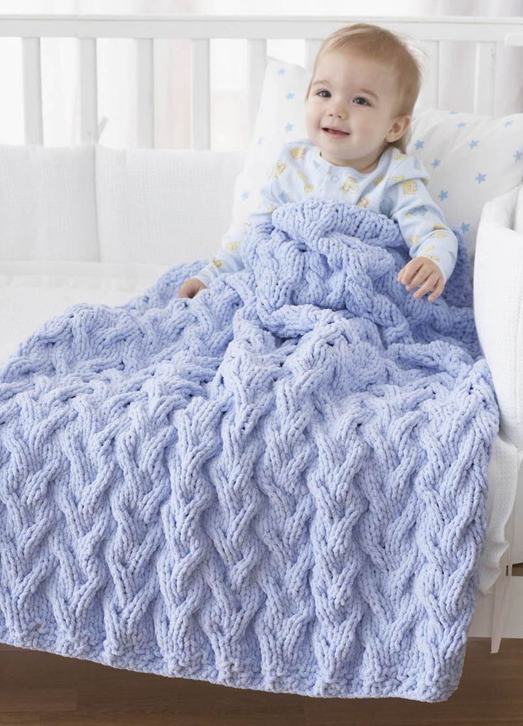 Wool Baby Blanket Lovely Bernat Shadow Cable Baby Blanket Knit Pattern Of Great 45 Pics Wool Baby Blanket