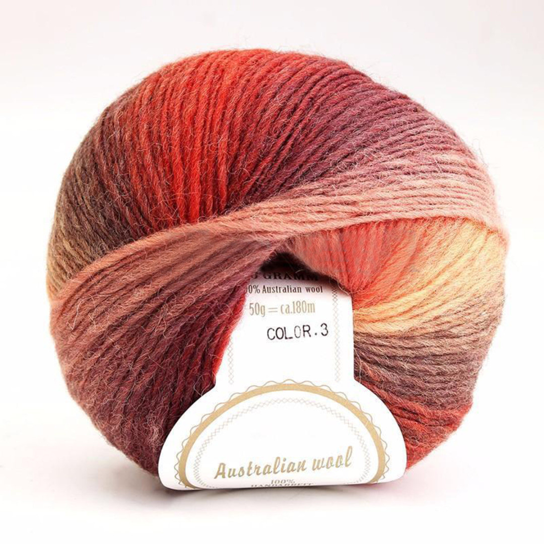 Sale 1 ball 50g Baby Soft Colorful Rainbow Wool Hand