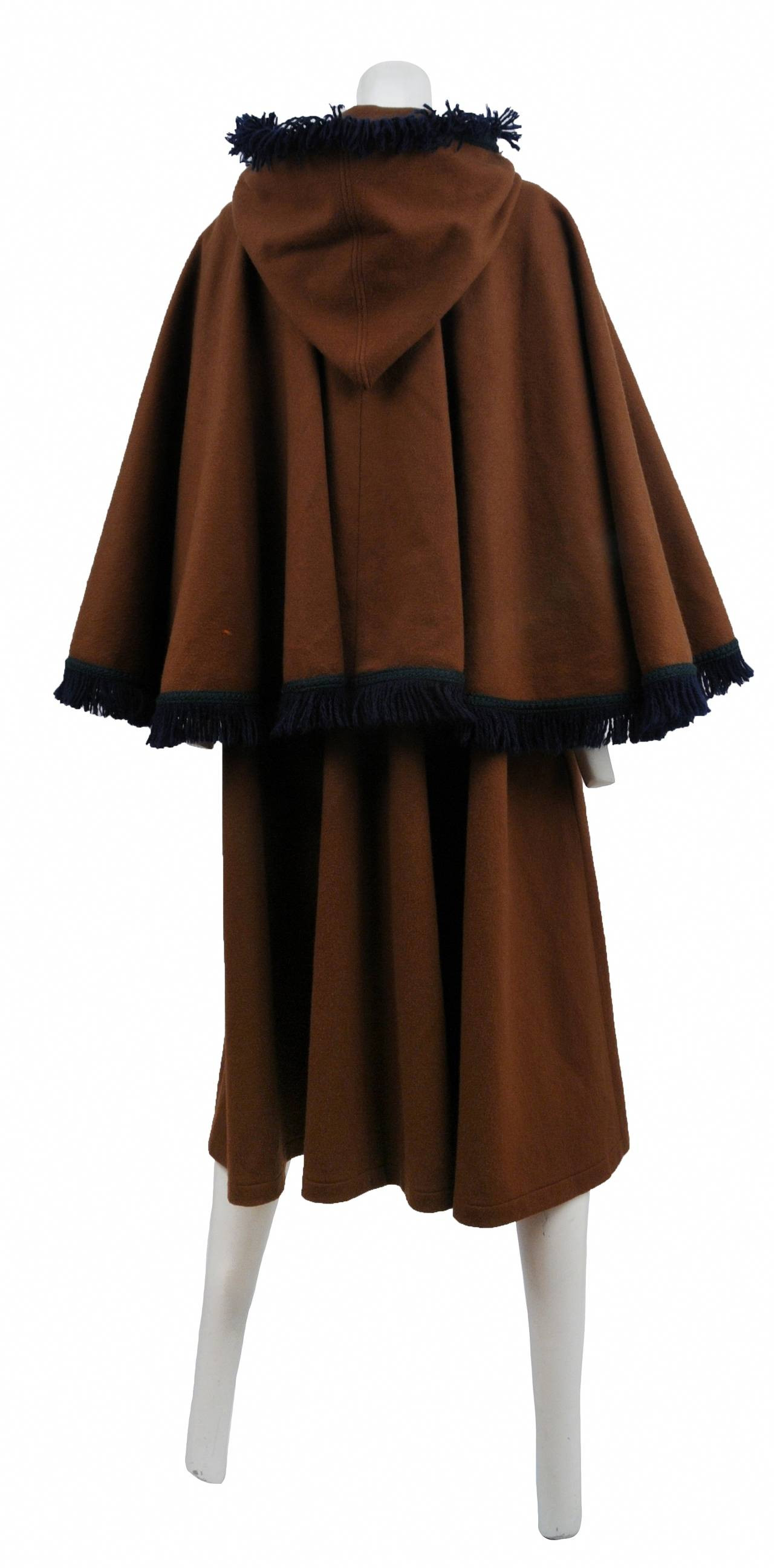 Wool for Sale Elegant Yves Saint Laurent Brown Wool Cape Coat for Sale at 1stdibs Of Amazing 50 Models Wool for Sale