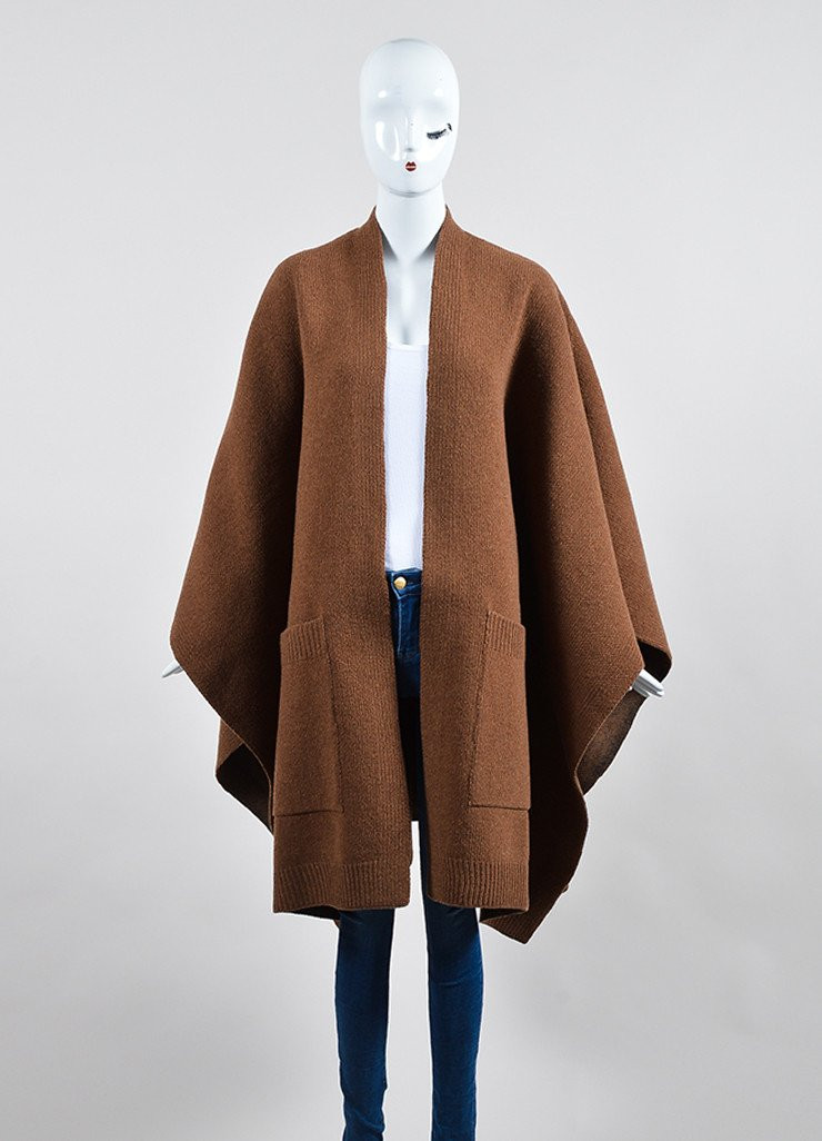 "Wool for Sale New ""vicuna"" Brown Derek Lam Wool and Silk Oversized Cape Of Amazing 50 Models Wool for Sale"