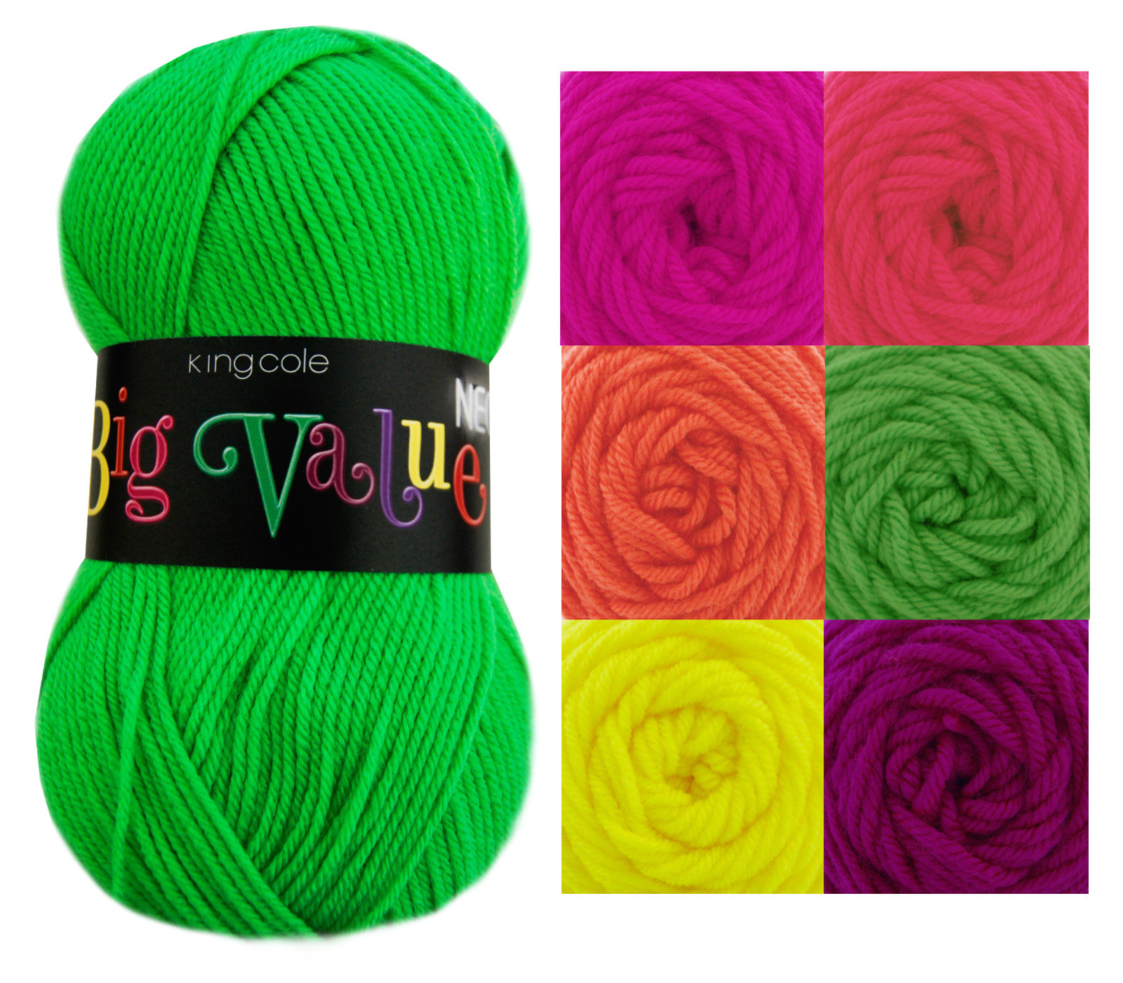 Wool Yarn Best Of King Cole Big Value Neon Double Knitting Yarn Acrylic Of Top 47 Pictures Wool Yarn