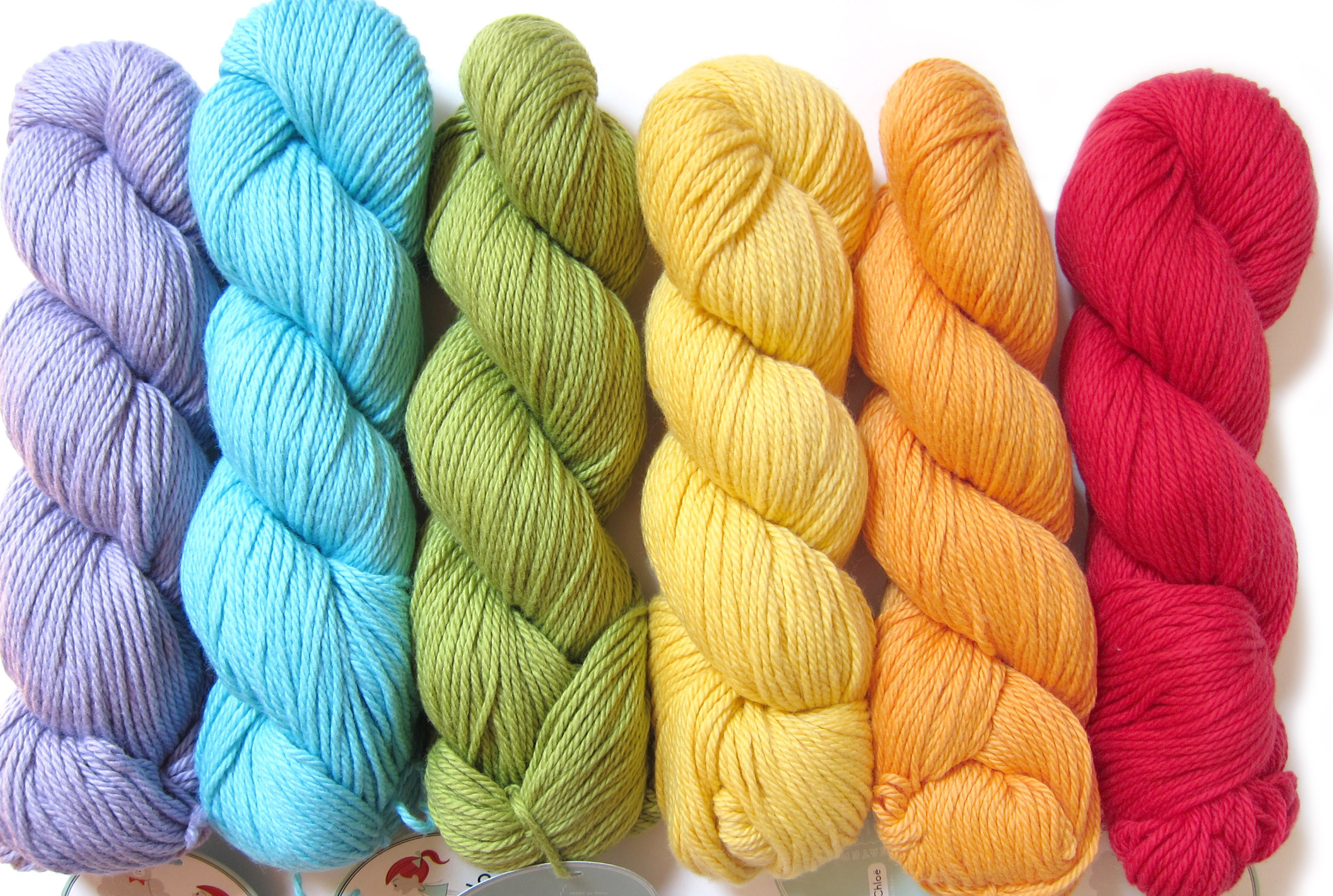 Yarns for my new book have arrived