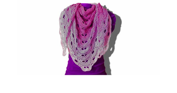 Virus shawl written crochet pattern pdf