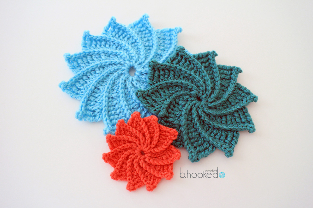 Written Crochet Patterns Luxury Spiral Crochet Flower Free Pattern and Video Tutorial Of Beautiful 42 Ideas Written Crochet Patterns