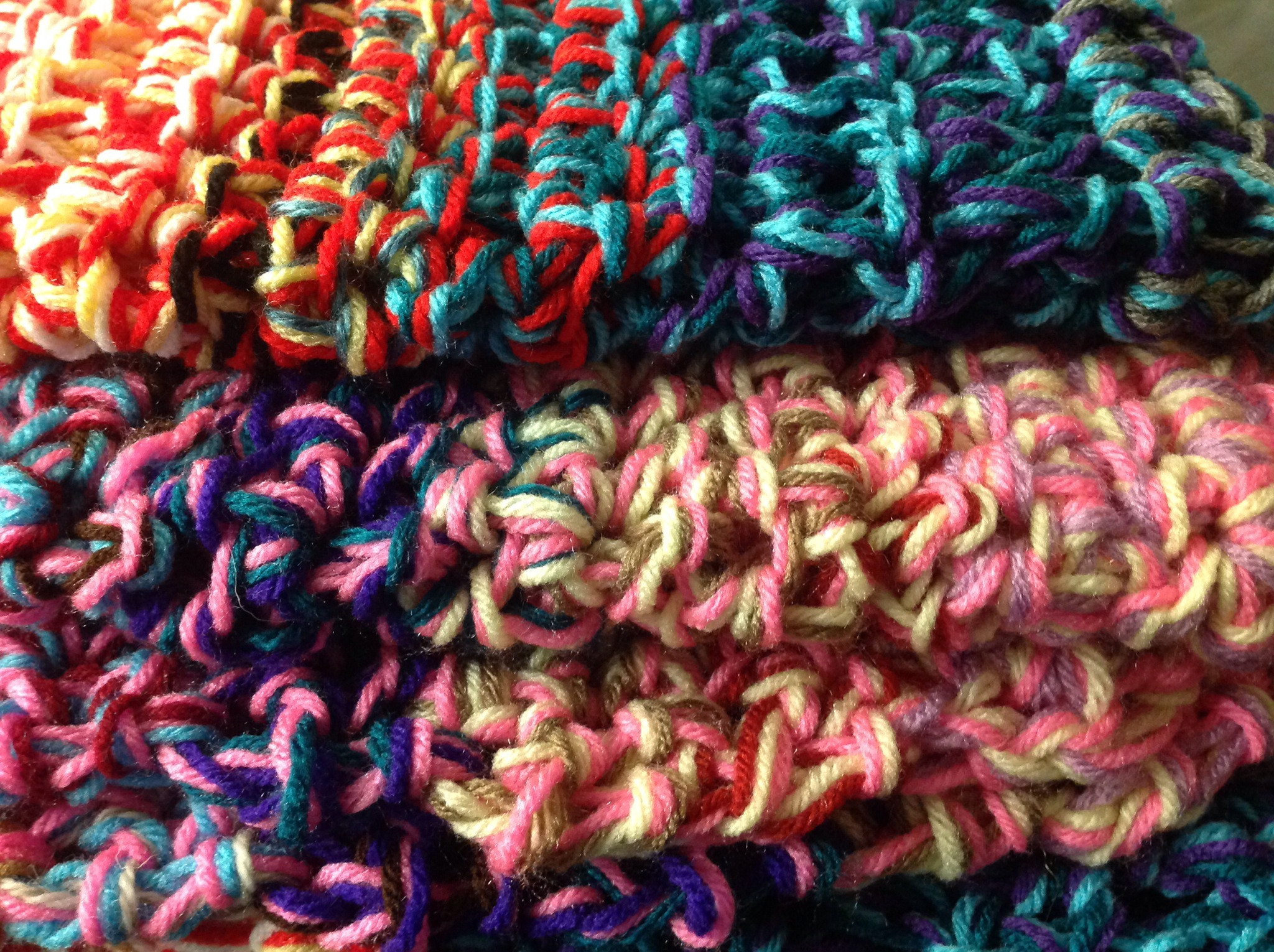 Super Chunky Crocheted Blanket great for scrap yarn