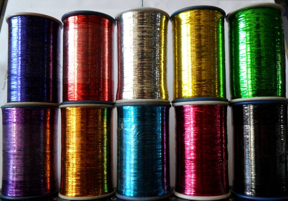 Yarn with Metallic Thread Awesome Lurex Embroidery Thread Metallic 10 Colours 25m Of Lovely 44 Pics Yarn with Metallic Thread