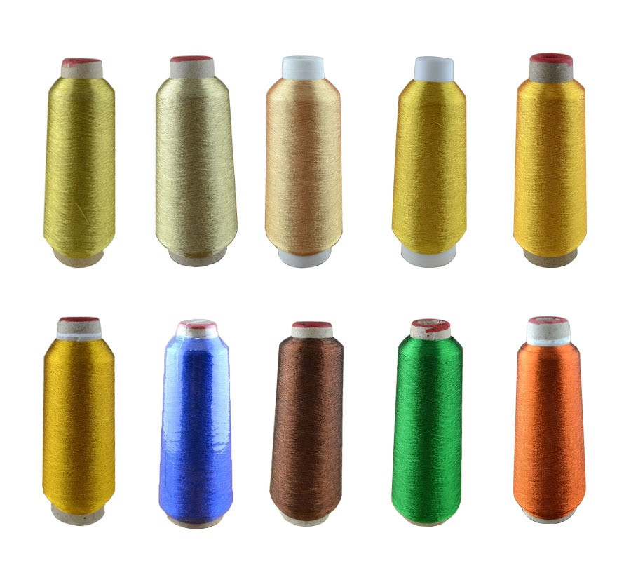 Yarn with Metallic Thread Elegant Metallic Yarn Big Cone 4000m Threads Metallic 20colors Of Lovely 44 Pics Yarn with Metallic Thread