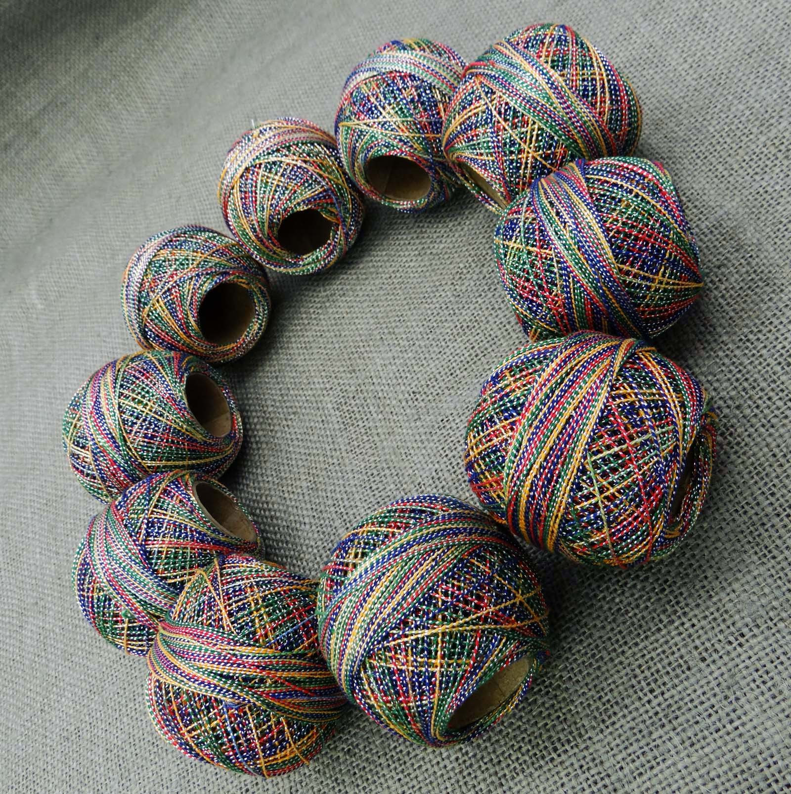 Embroidery Mercerized Yarn Cotton Metallic Crochet Thread
