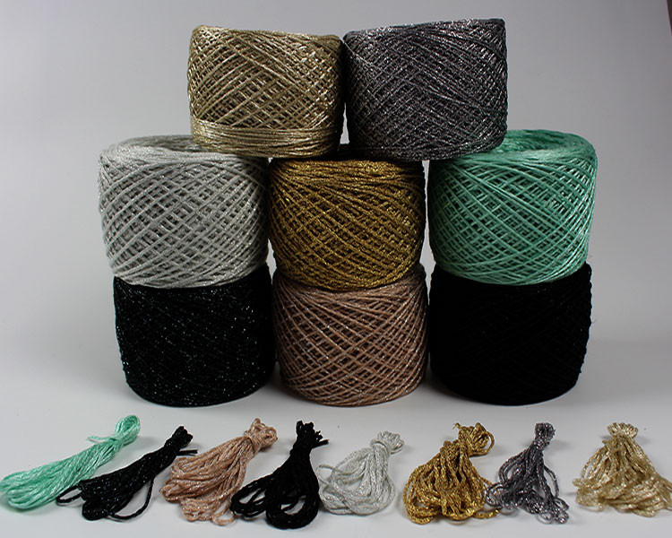 Yarn with Metallic Thread New 5 Pieces 100g Yarns Crochet Metallic Cotton Metallized Of Lovely 44 Pics Yarn with Metallic Thread