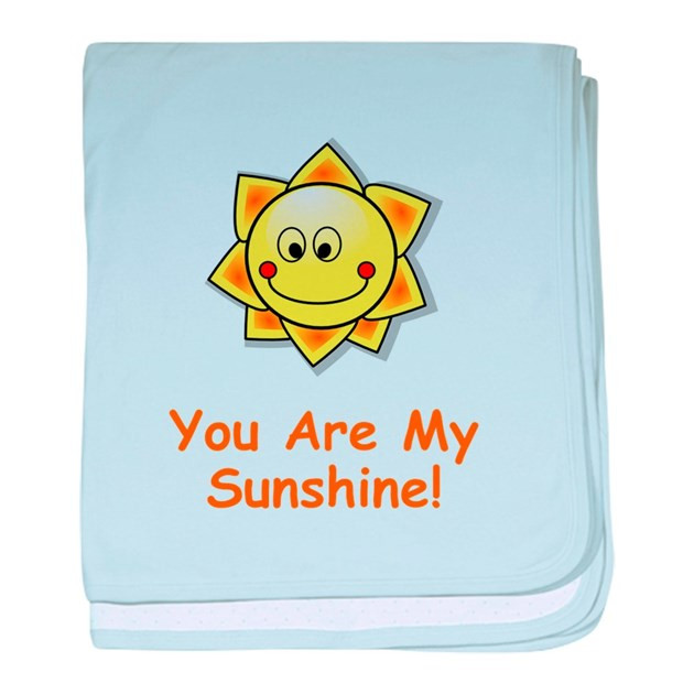 You Are My Sunshine baby blanket by FunBabyClothes