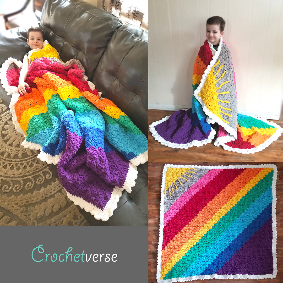 """Sunshine on a Cloudy Day C2C """"Calming Blanket"""" Free"""