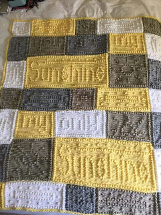 You are My Sunshine Crochet Blanket Lovely You are My Sunshine Blanket Fibers Pinterest Of Fresh 41 Ideas You are My Sunshine Crochet Blanket