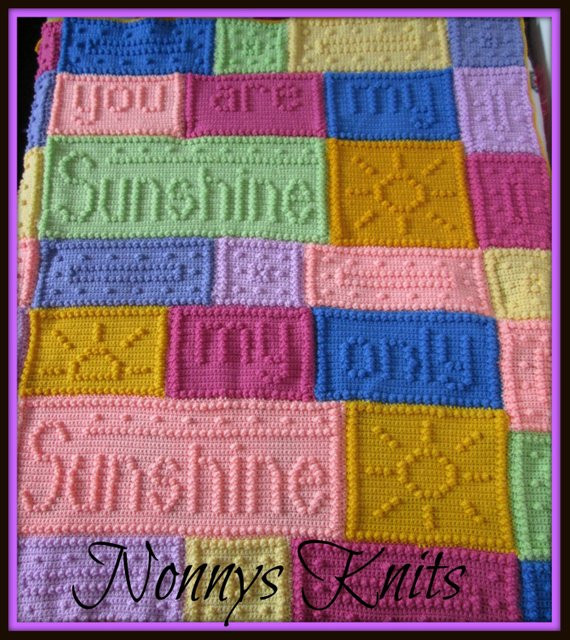 You are My Sunshine Crochet Blanket Unique You are My Sunshine Afghan Blanket Custom orders Ly Of Fresh 41 Ideas You are My Sunshine Crochet Blanket