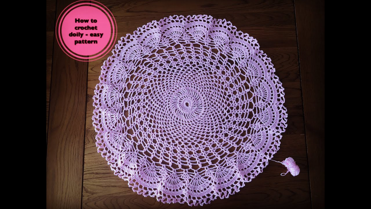 How to crochet doily easy pattern