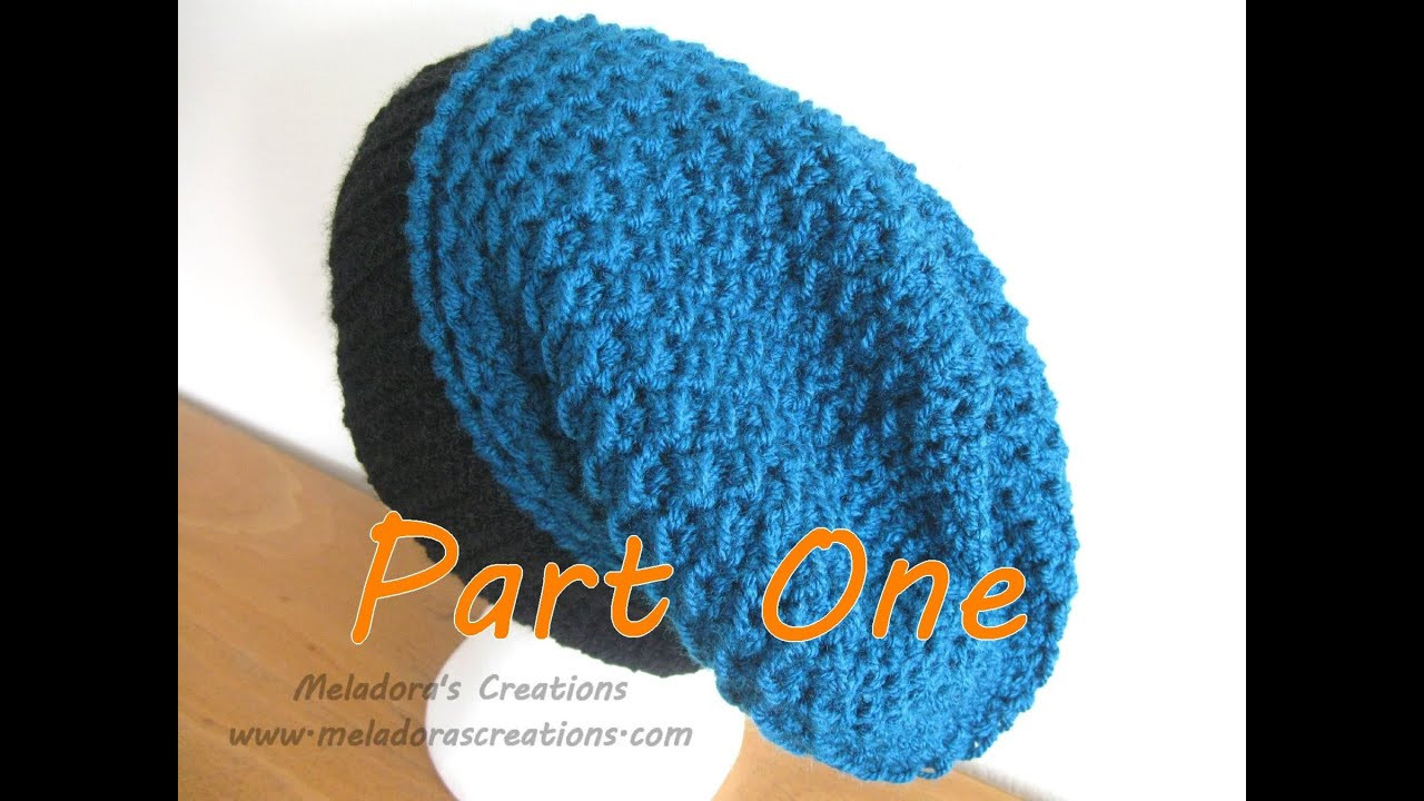 Youtube Crochet New Moss Stitch Slouch Hat Tutorial Pt 1 Crochet Tutorial Of Brilliant 46 Pictures Youtube Crochet
