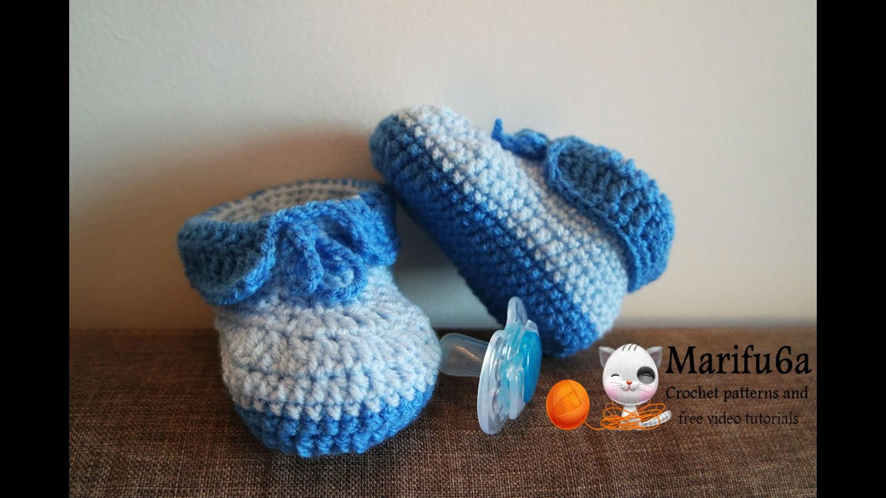 Youtube Crochet Unique How to Crochet Easy Baby Booties Full Free Pattern Of Brilliant 46 Pictures Youtube Crochet