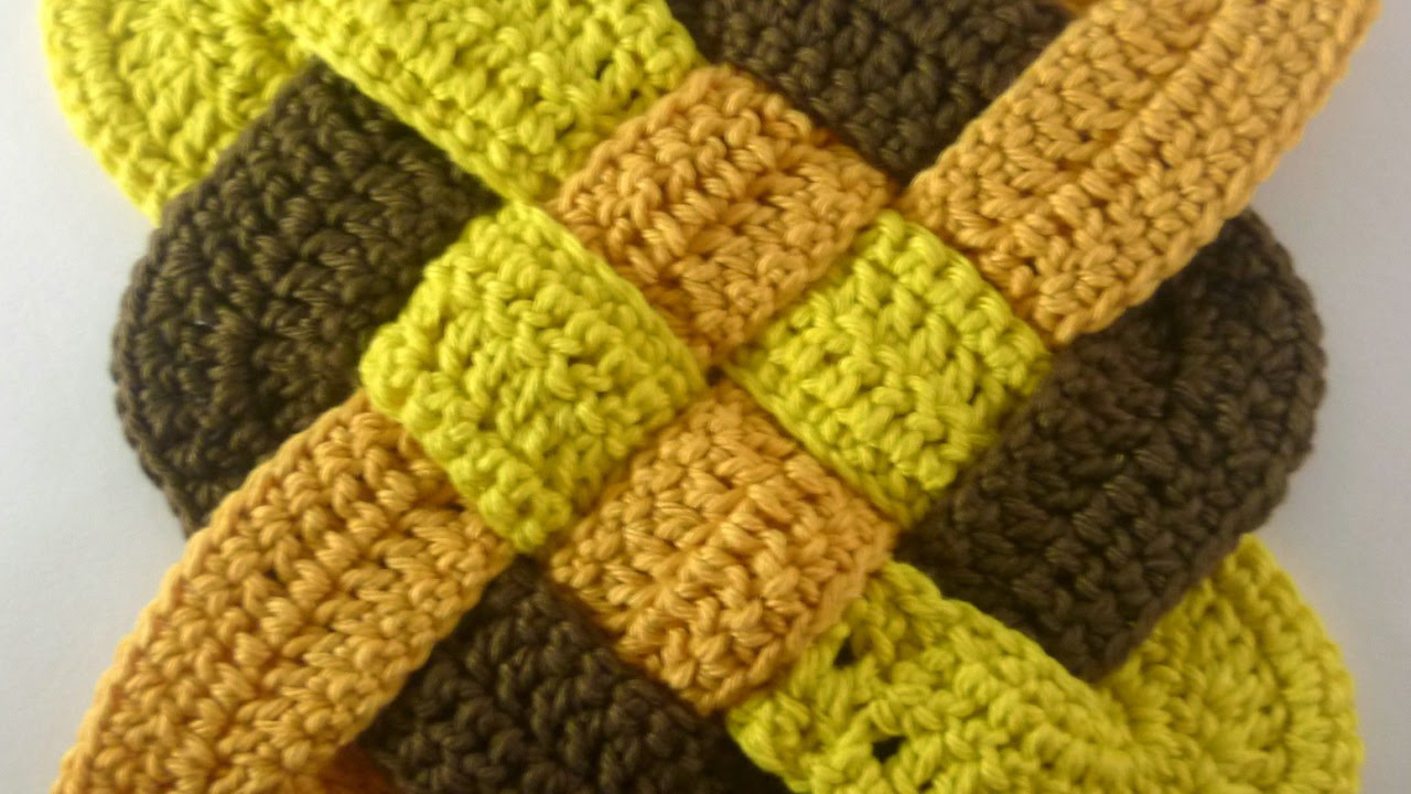 How To Make a Celtic Weaved Square Crochet Motif DIY